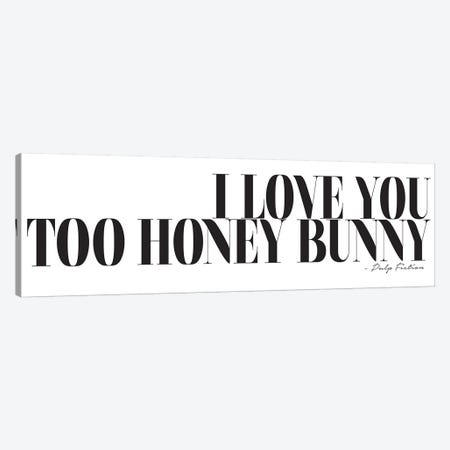 I Love You Too Honey Bunny Canvas Print #HON125} by Honeymoon Hotel Canvas Art