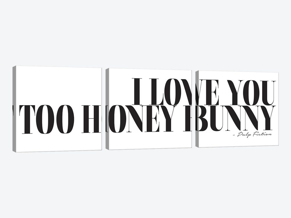 I Love You Too Honey Bunny by Honeymoon Hotel 3-piece Canvas Wall Art