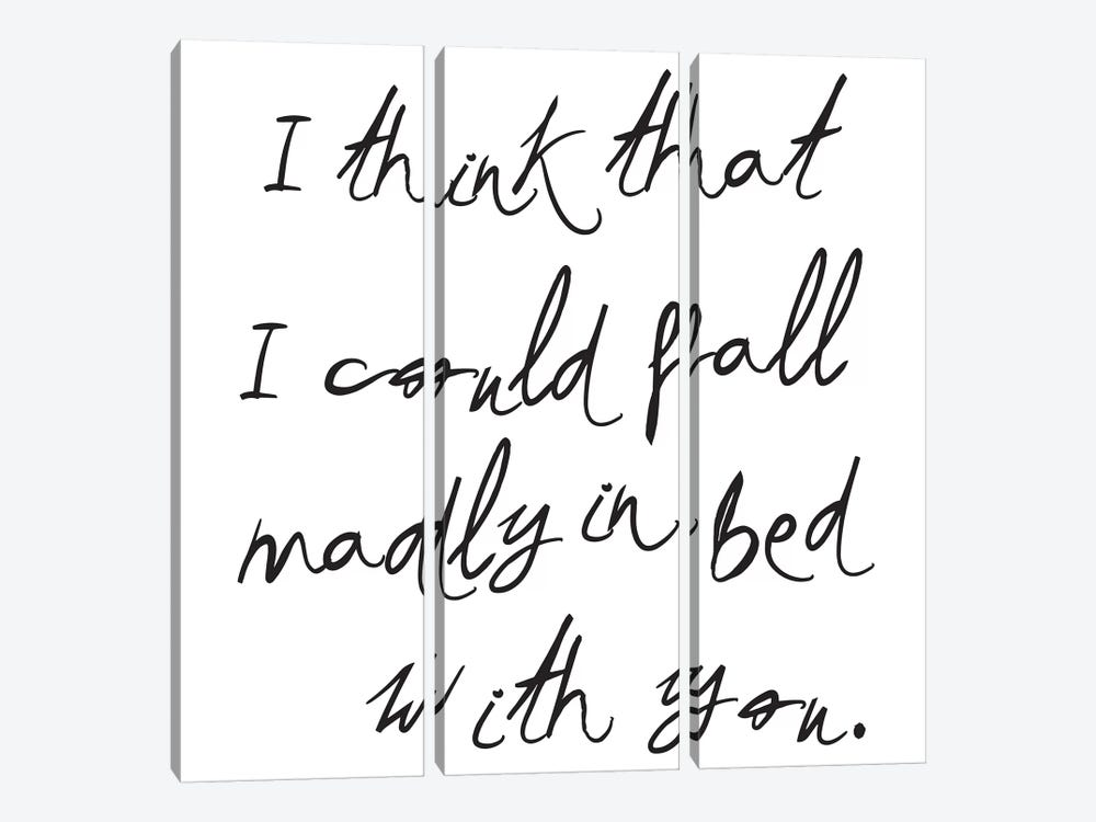 I Think I Could Fall… by Honeymoon Hotel 3-piece Canvas Print
