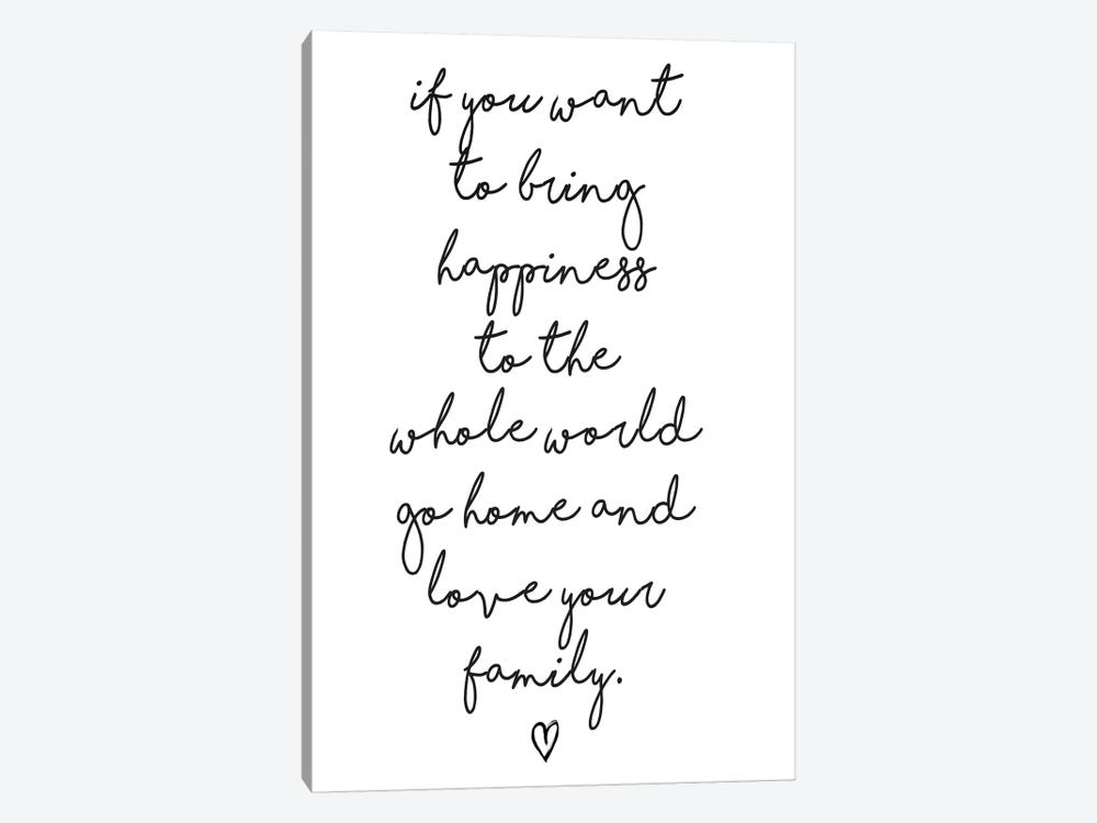 If You Want To Bring Happiness… by Honeymoon Hotel 1-piece Canvas Artwork