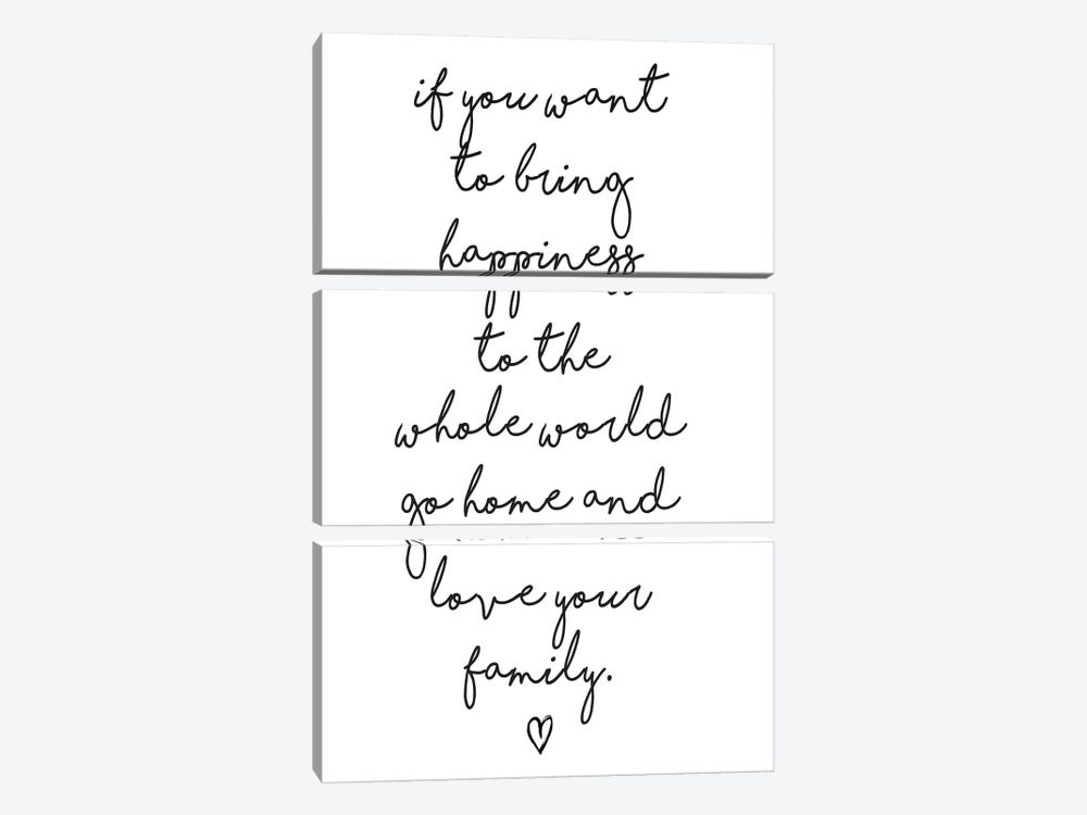 If You Want To Bring Happiness… by Honeymoon Hotel 3-piece Canvas Artwork