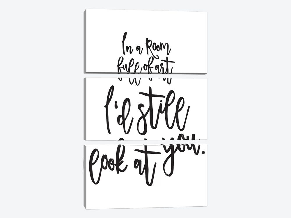 In A Room Full Of Art by Honeymoon Hotel 3-piece Art Print