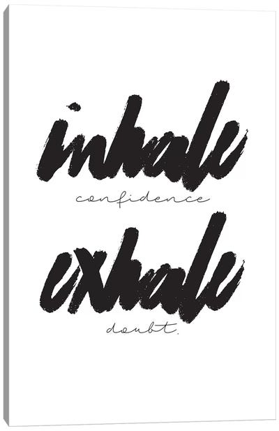 Inhale/Exhale Canvas Art Print