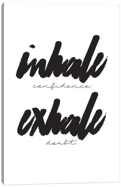 Inhale/Exhale Canvas Art Print