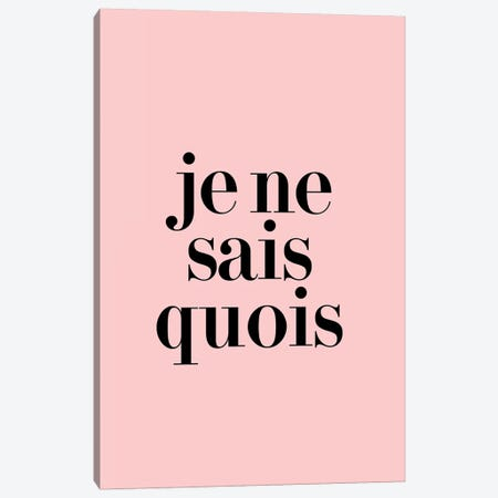 Je Ne Sais Quois Canvas Print #HON141} by Honeymoon Hotel Canvas Art Print