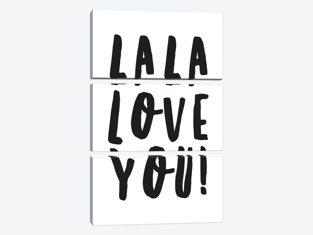 La La Love You! by Honeymoon Hotel 3-piece Canvas Wall Art