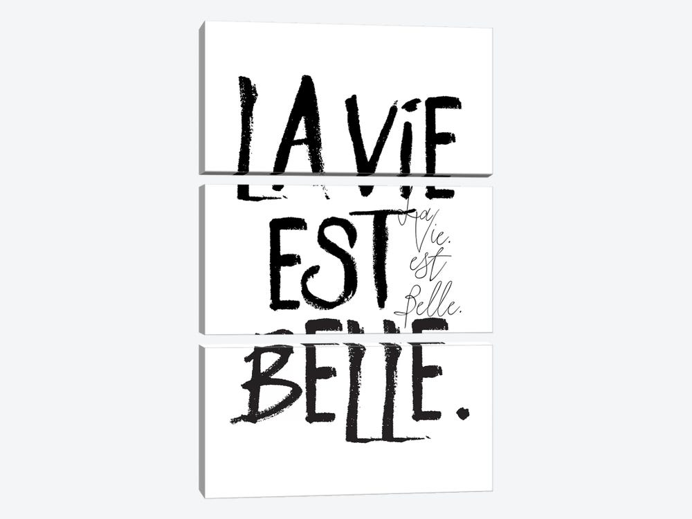 La Vie est Belle. by Honeymoon Hotel 3-piece Canvas Art Print