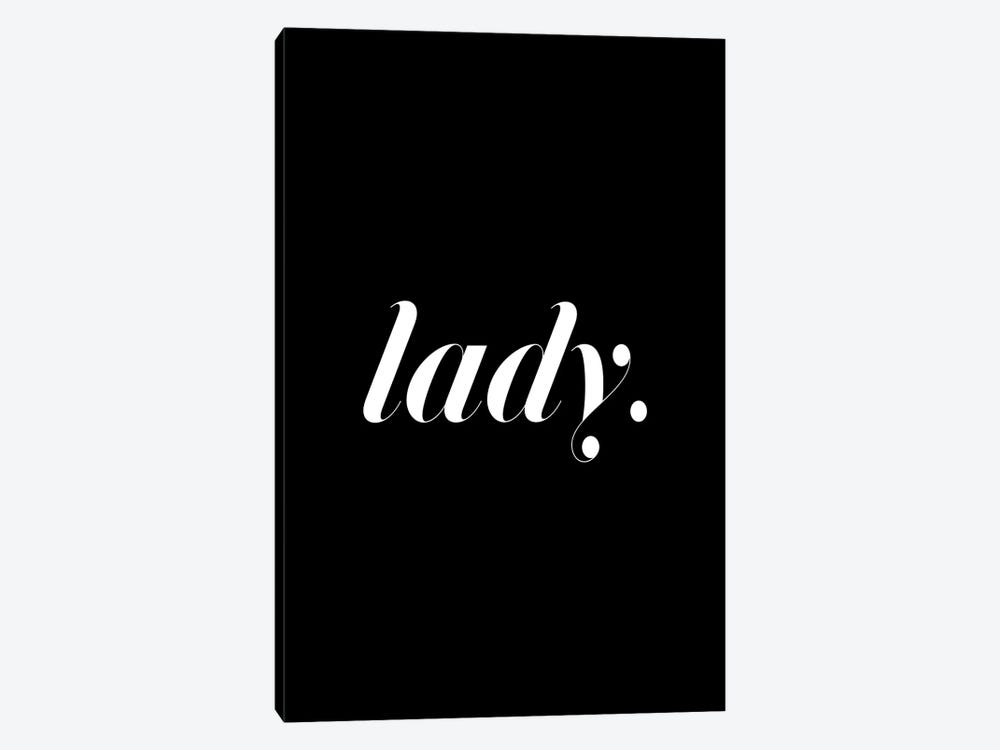 Lady. (Black) 1-piece Canvas Art