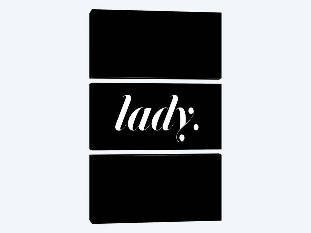 Lady. (Black) by Honeymoon Hotel 3-piece Canvas Art