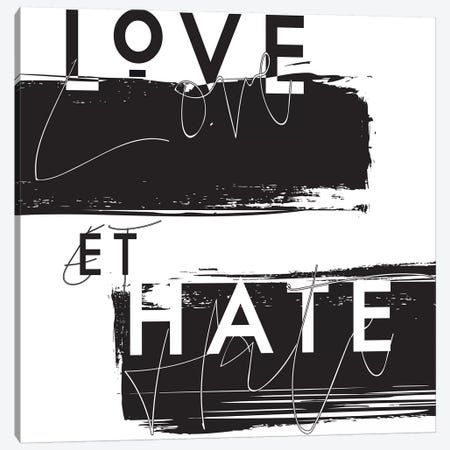 Love et Hate Canvas Print #HON164} by Honeymoon Hotel Canvas Art