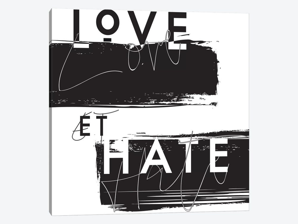 Love et Hate by Honeymoon Hotel 1-piece Canvas Art Print