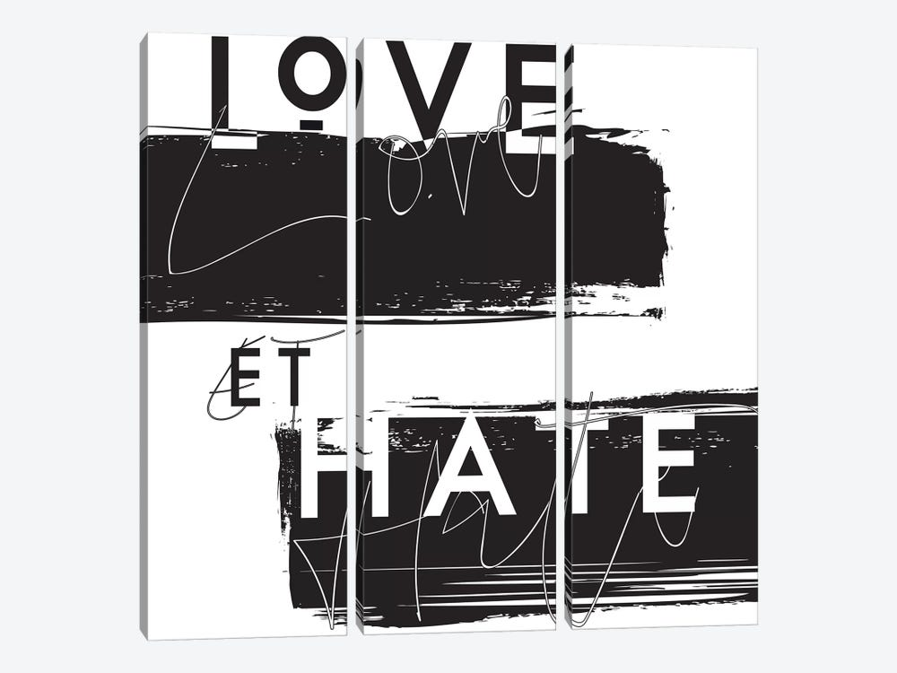 Love et Hate by Honeymoon Hotel 3-piece Canvas Print