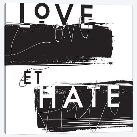 Love et Hate Canvas Print #HON164} by Honeymoon Hotel Canvas Art