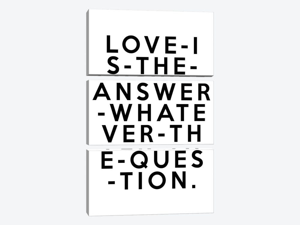 Love Is The Answer by Honeymoon Hotel 3-piece Canvas Art Print
