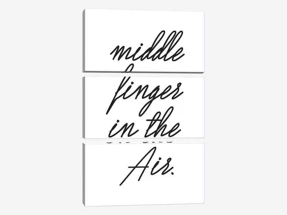 Middle Fingers In The Air. by Honeymoon Hotel 3-piece Canvas Art