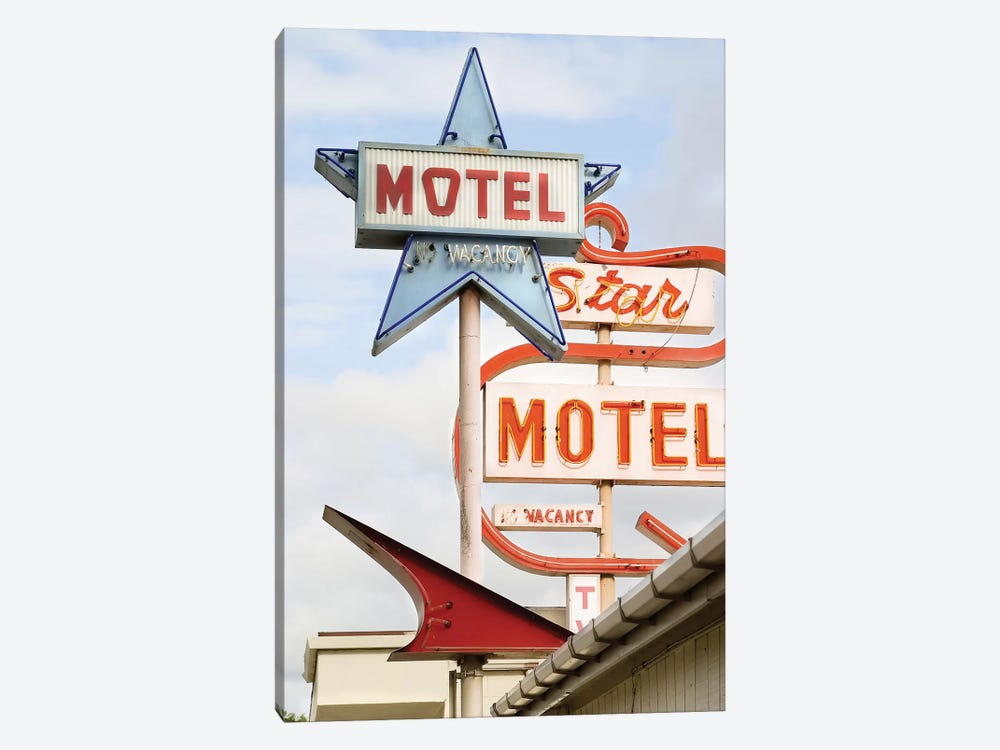 Motel by Honeymoon Hotel 1-piece Canvas Artwork