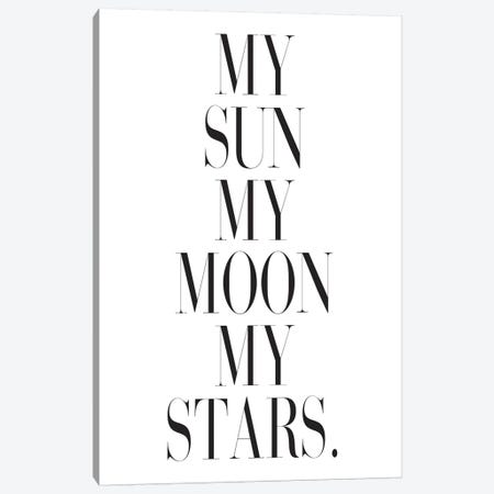 My Sun My Moon My Stars. Canvas Print #HON185} by Honeymoon Hotel Canvas Wall Art