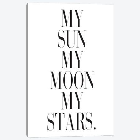 My Sun My Moon My Stars. Canvas Print #HON185} by Honeymoon Hotel Canvas Wall Art