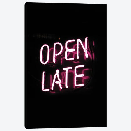 Open Late Canvas Print #HON189} by Honeymoon Hotel Art Print