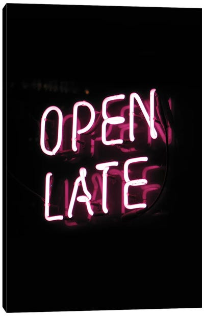 Open Late Canvas Art Print