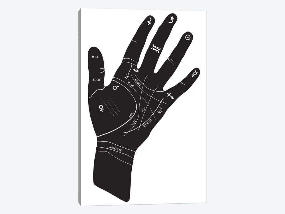 Palmistry Hand Symbols Canvas Print By Honeymoon Hotel Icanvas