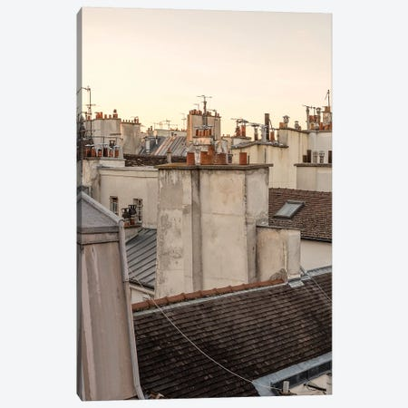 Paris At Dusk Canvas Print #HON198} by Honeymoon Hotel Canvas Art