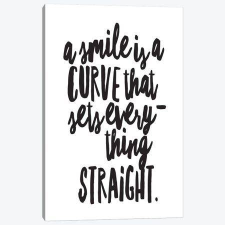 A Smile Is A Curve Canvas Print #HON1} by Honeymoon Hotel Art Print