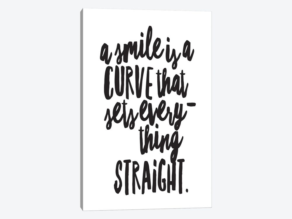 A Smile Is A Curve by Honeymoon Hotel 1-piece Canvas Print