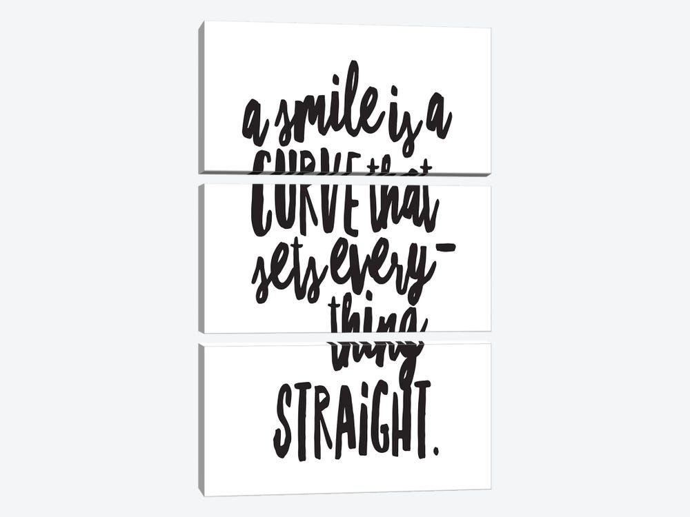 A Smile Is A Curve by Honeymoon Hotel 3-piece Canvas Art Print