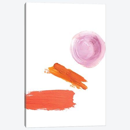 Peach Cheeks Canvas Print #HON200} by Honeymoon Hotel Canvas Wall Art