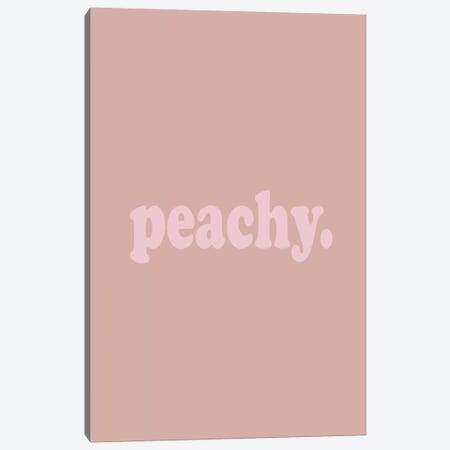 Peachy. Canvas Print #HON202} by Honeymoon Hotel Canvas Wall Art