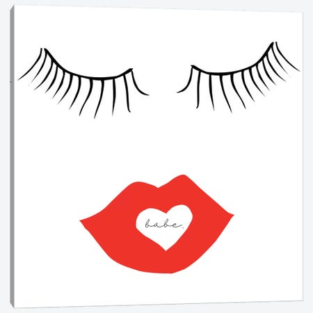 Babe Face Canvas Print #HON20} by Honeymoon Hotel Canvas Art