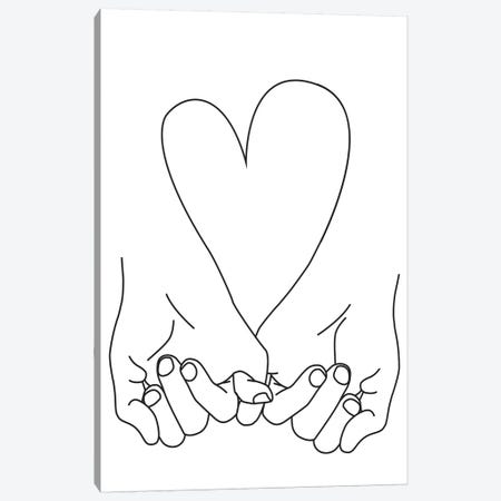 Pinky Promise, His + His Canvas Print #HON211} by Honeymoon Hotel Canvas Art Print
