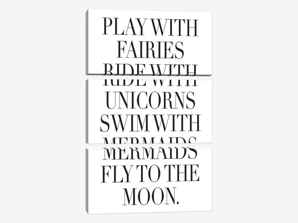 Play With Fairies by Honeymoon Hotel 3-piece Canvas Artwork