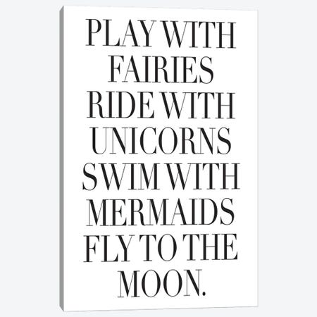 Play With Fairies Canvas Print #HON214} by Honeymoon Hotel Canvas Art