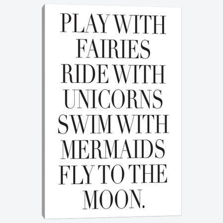 Play With Fairies Canvas Print #HON214} by Honeymoon Hotel Canvas Art