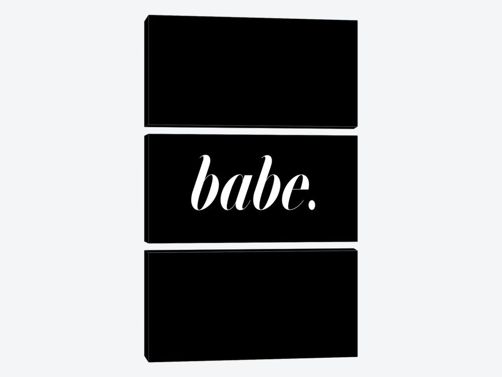 Babe. (Black) by Honeymoon Hotel 3-piece Canvas Print