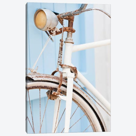 Rusty Bicycle Canvas Print #HON222} by Honeymoon Hotel Canvas Wall Art