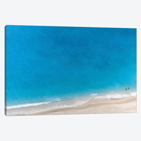 Sparkling Blue Canvas Print #HON230} by Honeymoon Hotel Art Print