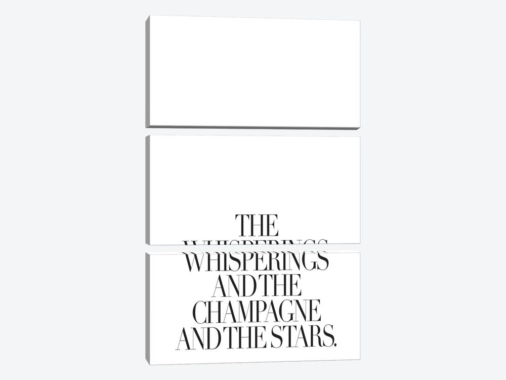 The Whisperings And The Champagne by Honeymoon Hotel 3-piece Art Print
