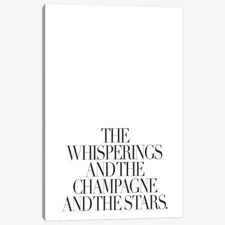 The Whisperings And The Champagne Canvas Print #HON248} by Honeymoon Hotel Canvas Art