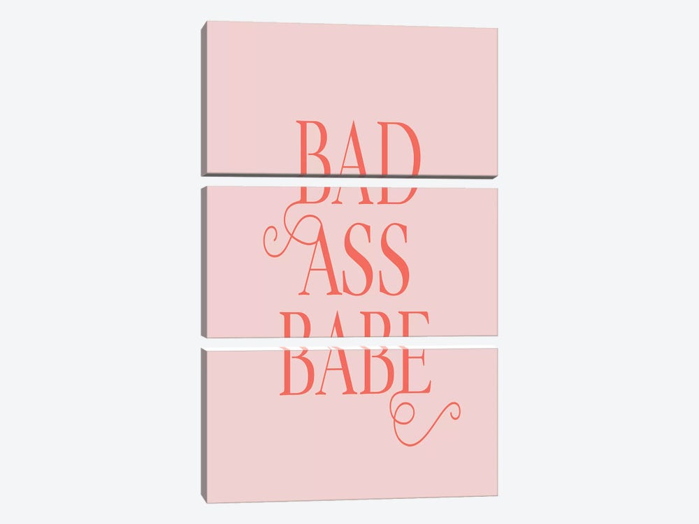 Bad Ass Babe by Honeymoon Hotel 3-piece Canvas Wall Art