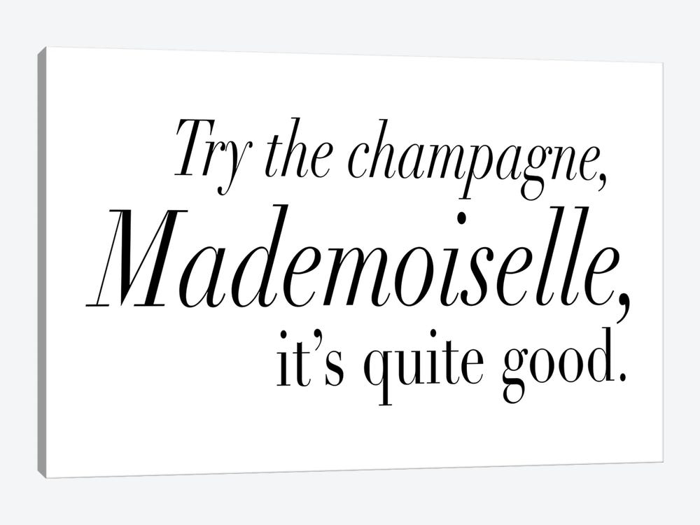 Try The Champagne, Mademoiselle 1-piece Canvas Wall Art