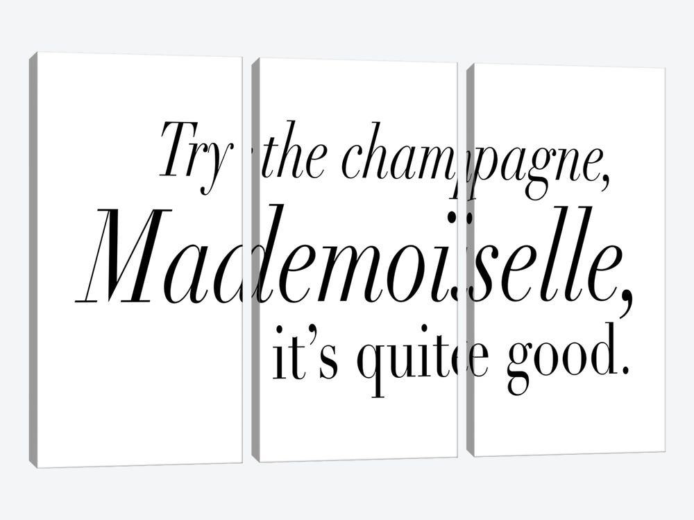 Try The Champagne, Mademoiselle 3-piece Canvas Art