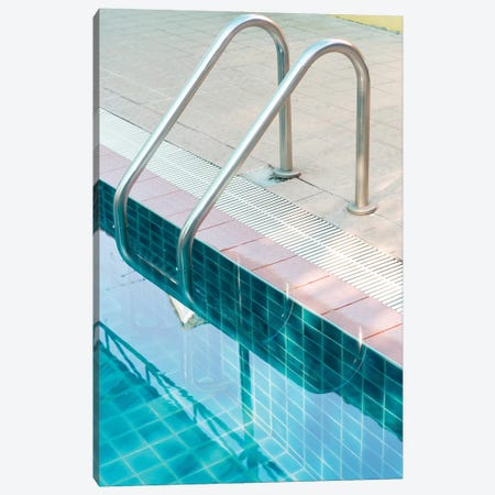 Vintage Swimming Pool Canvas Print #HON259} by Honeymoon Hotel Art Print