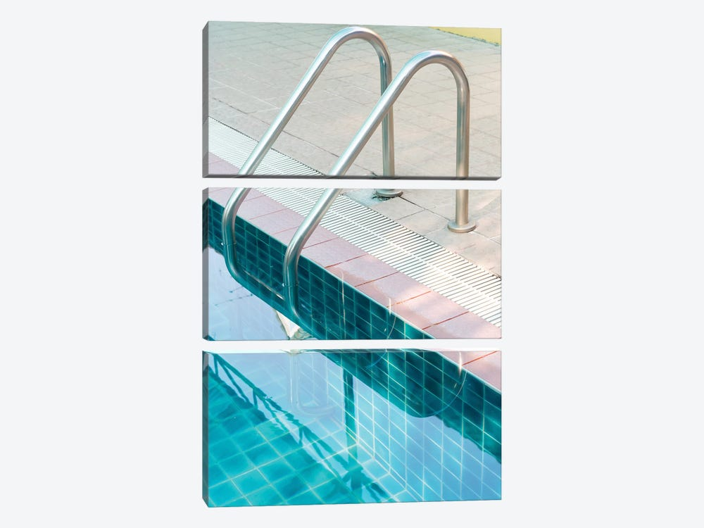 Vintage Swimming Pool by Honeymoon Hotel 3-piece Canvas Print