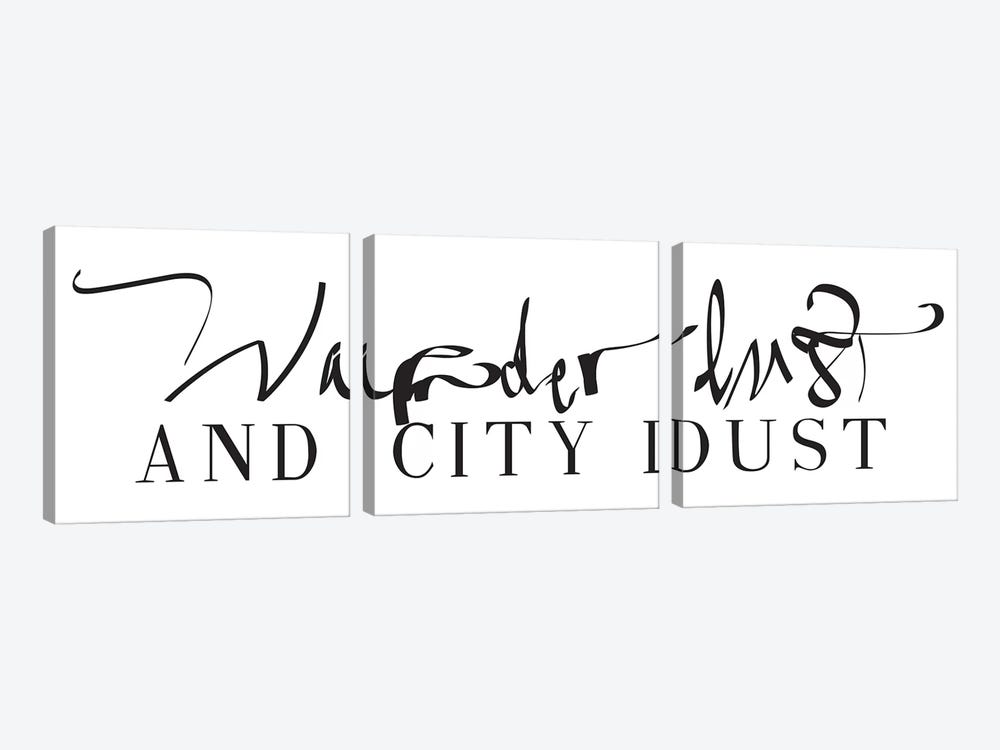 Wanderlust And City Dust by Honeymoon Hotel 3-piece Canvas Wall Art