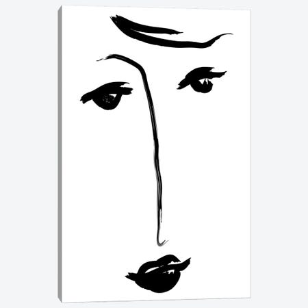 Why The Long Face Canvas Print #HON268} by Honeymoon Hotel Canvas Artwork