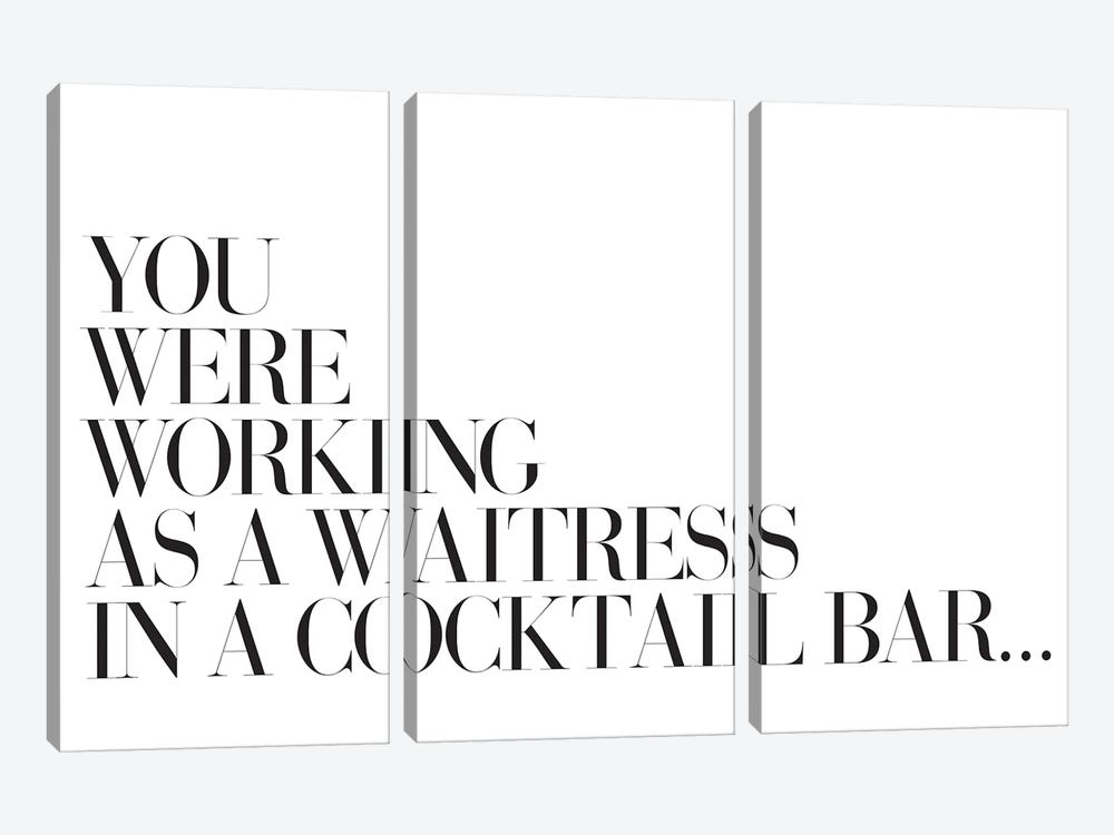 You Were Working As A Waitress In A Cocktail Bar… by Honeymoon Hotel 3-piece Canvas Artwork