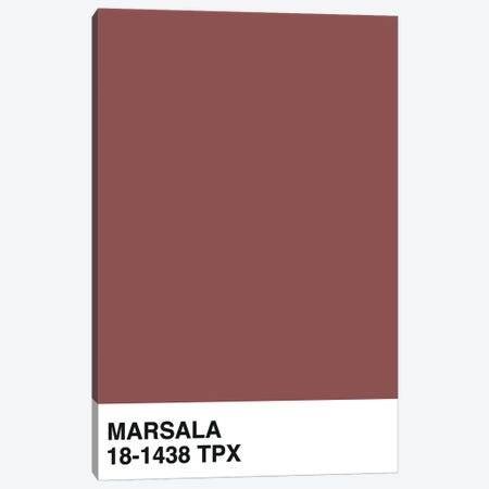 Marsala 18-1438 TPX Canvas Print #HON282} by Honeymoon Hotel Canvas Art